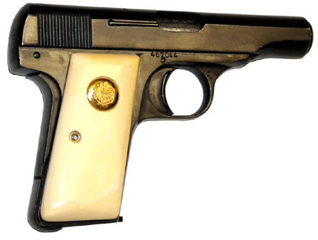 1910 Browning w/ivory grips and royal medallions
